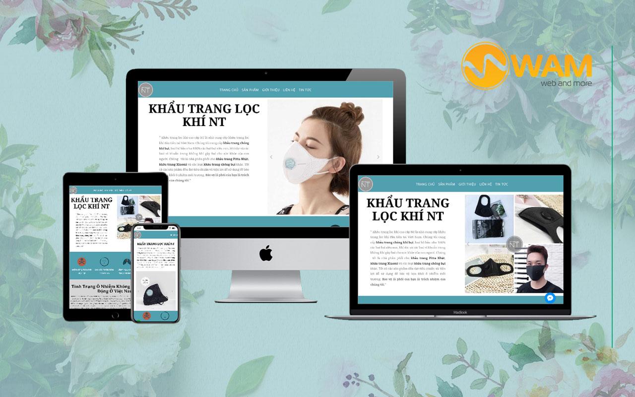 Du án Website Khẩu Trang