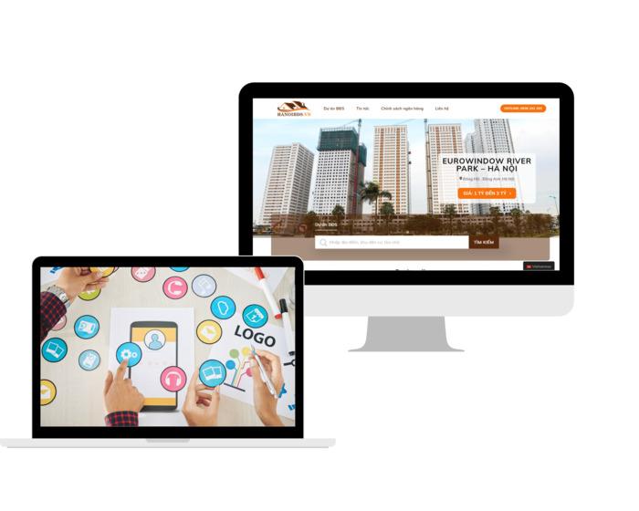 website bán hàng trên laptop